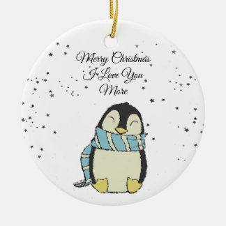 Adorno De Cerámica Felices Navidad te amo más