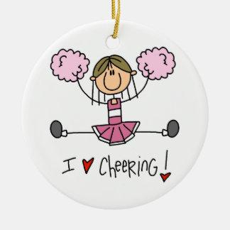 Adorno De Cerámica Figura rosada camisetas y regalos del palillo de