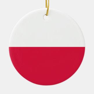 Adorno De Cerámica Flaga Polski - bandera polaca