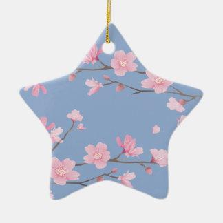 Adorno De Cerámica Flor de cerezo - azul de la serenidad