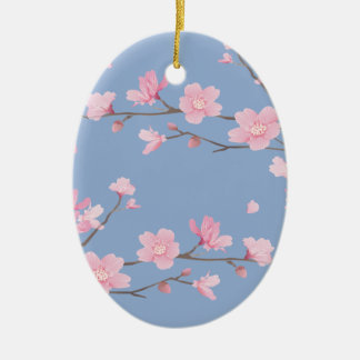 Adorno De Cerámica Flor de cerezo - azul de la serenidad - FELIZ