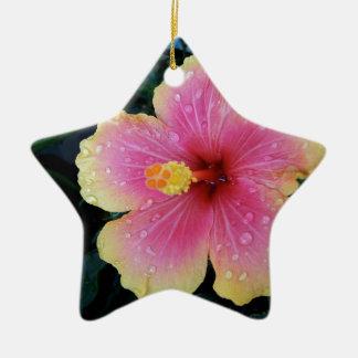 Adorno De Cerámica Flor del Hawaiian del hibisco