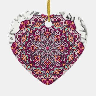 Adorno De Cerámica Floral Mandala