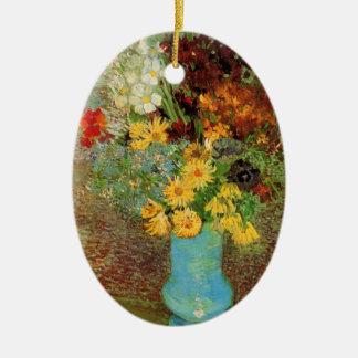 Adorno De Cerámica Florero de Van Gogh con bella arte de las