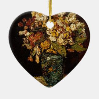 Adorno De Cerámica Flores en un florero