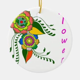 Adorno De Cerámica flower mandala2