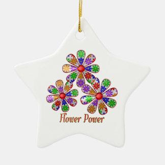 Adorno De Cerámica Flower power de la diversión