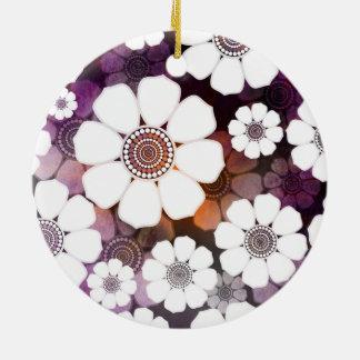 Adorno De Cerámica Flower power púrpura enrrollado