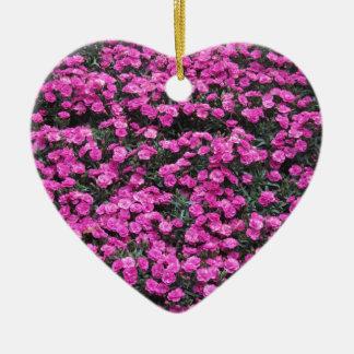 Adorno De Cerámica Fondo natural de las flores púrpuras del clavel