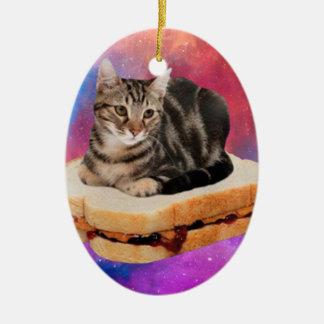 Adorno De Cerámica gato del pan - gato del espacio - gatos en espacio