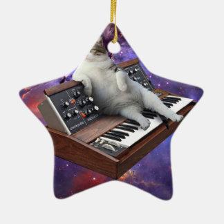 Adorno De Cerámica gato del teclado - memes del gato - gato loco