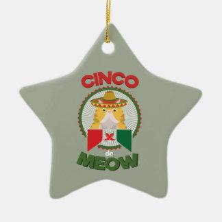 Adorno De Cerámica Gato divertido para el día de fiesta del mexicano