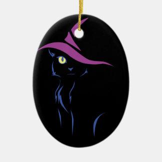 Adorno De Cerámica Gato negro de Halloween