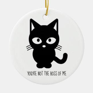 Adorno De Cerámica Gato negro el | usted no es Boss de mí