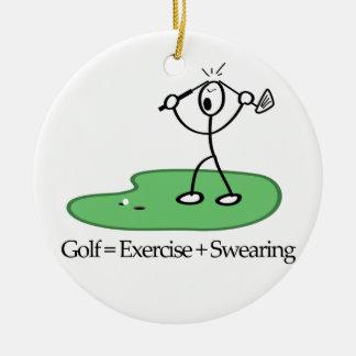 Adorno De Cerámica Golf = ejercicio + El jurar