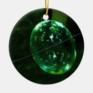 Adorno De Cerámica Gota de agua del vidrio verde