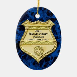 Adorno De Cerámica Graduación de la policía de la insignia/fiesta de