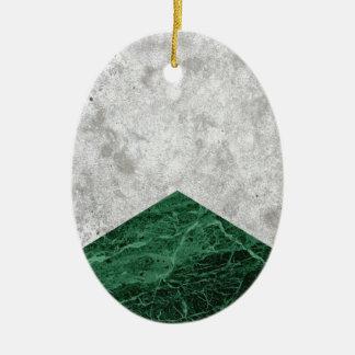 Adorno De Cerámica Granito concreto #412 del verde de la flecha