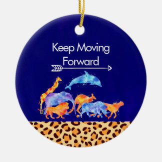Adorno De Cerámica Guarde el mover adelante de los animales salvajes