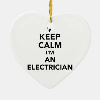 Adorno De Cerámica Guarde la calma que soy electricista