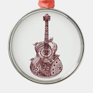 Adorno De Cerámica Guitarra