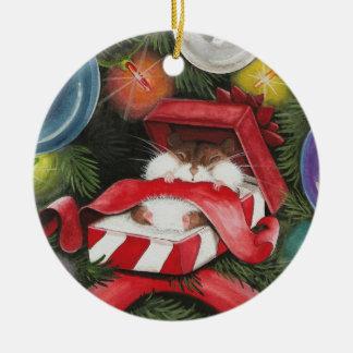 Adorno De Cerámica Hámster del navidad - día de fiesta de Hammie