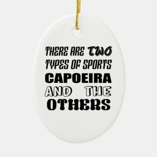 Adorno De Cerámica Hay dos tipos de deportes Capoeira y otros