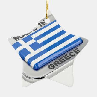Adorno De Cerámica Hecho en la insignia de Grecia