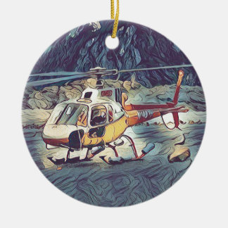 Adorno De Cerámica Helicóptero artístico fresco