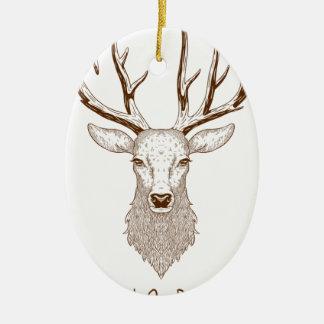 Adorno De Cerámica Hello Deer