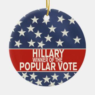 Adorno De Cerámica ¡Hillary, ganador del voto popular!