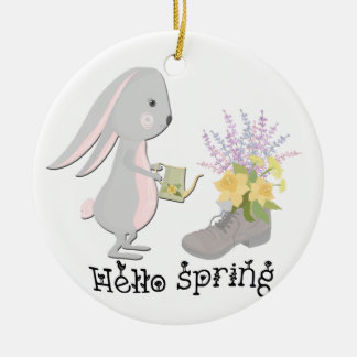 Adorno De Cerámica hola primavera