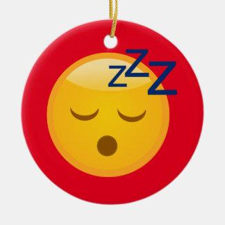 Adorno De Cerámica Hora de acostarse cansada Emoji