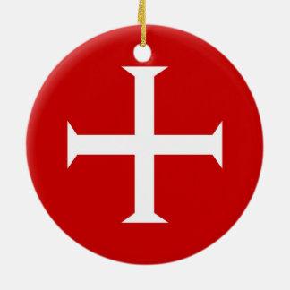 Adorno De Cerámica hospitall teutónico templar de Malta de la Cruz