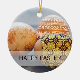 Adorno De Cerámica Huevos de Pascua pintados rústicos