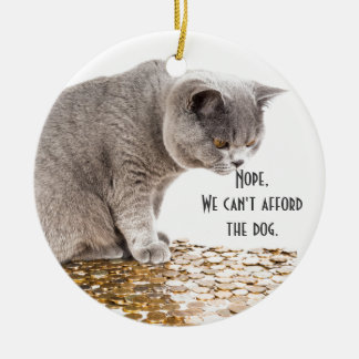 Adorno De Cerámica Humor del gato y del perro
