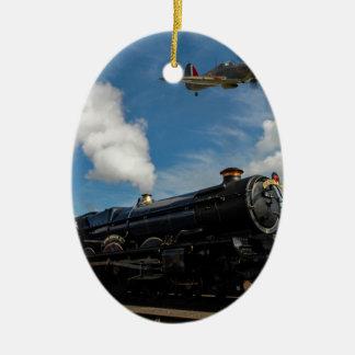 Adorno De Cerámica Huracanes y tren del vapor