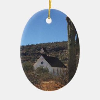 Adorno De Cerámica Iglesia del oeste vieja