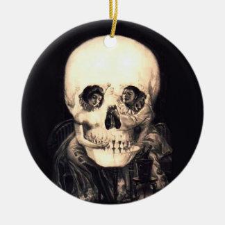 Adorno De Cerámica Ilusión del cráneo
