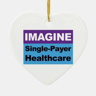 Adorno De Cerámica Imagínese la sola atención sanitaria del pagador