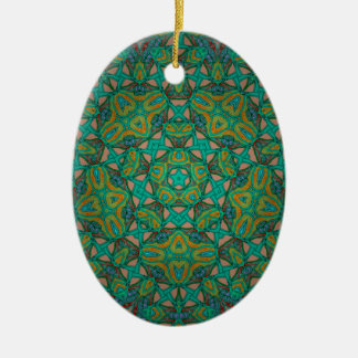 Adorno De Cerámica Impresión fresca del verde de la selva tropical