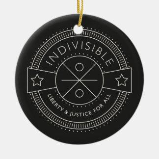 Adorno De Cerámica Indivisible, con libertad y justicia para todos