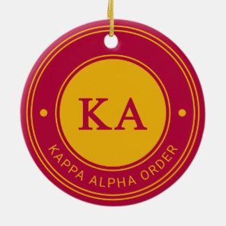 Adorno De Cerámica Insignia alfa de la orden el | de Kappa