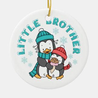 Adorno De Cerámica Invierno pequeño Brother del pingüino