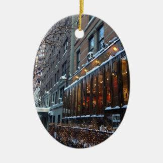 Adorno De Cerámica Invierno superior NYC de New York City de los