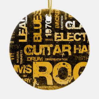Adorno De Cerámica Invitación del fiesta de la música rock como arte