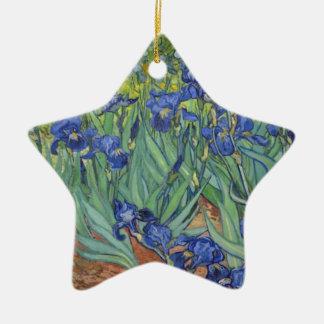 Adorno De Cerámica Iris azules
