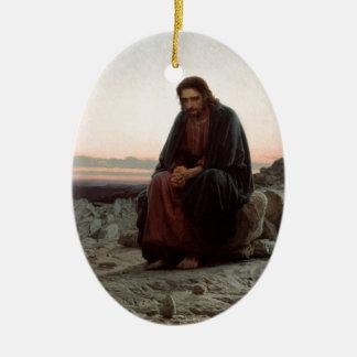 Adorno De Cerámica Ivan Kramskoy- Cristo en el desierto - bella arte
