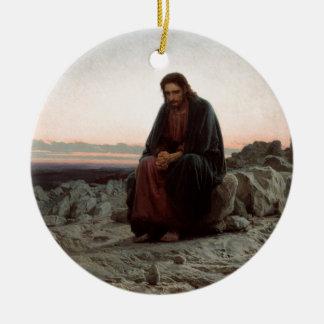 Adorno De Cerámica Ivan Kramskoy- Cristo en la bella arte del