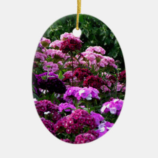 Adorno De Cerámica Jardín de flores en verano